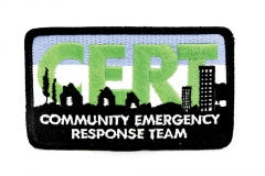 10156 C.E.R.T. Embroidered Patch