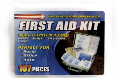 10381 107 Piece First Aid Kit In Plastic Case