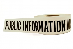 10081 Triage Tape - Public Information Area (White)