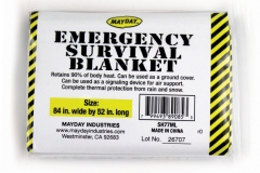 "10741 Large Mayday Solar Blankets - 84""x53"""
