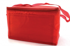 11643 Blank Red Vinyl Cooler Bag with handle