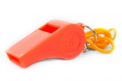 76501 Plastic Whistle With Lanyard