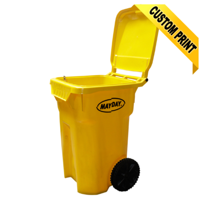 Superieur 11633 Yellow Storage Container On Wheels